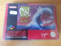 SNES Super Nintendo Cool Spot boxed with manual & protective sleeve