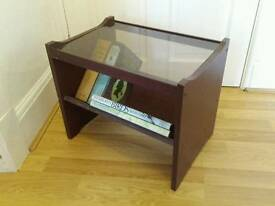 Small glass topped coffee table