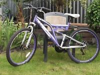 Dunlop Moutain Bike 'All Terrain' Dual Suspension, 18 Gears vgc.