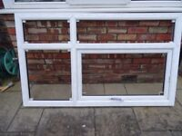 PVC WINDOW LEADED BOTH SIDES 1230CM X1095