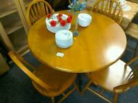 Dining table & 4 chairs Pine #27843 £69