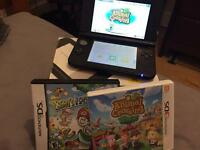 Nintendo 3DS XL - Black and Silver plus games