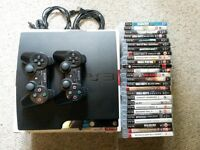 120GB PS3 Slim - 2 Controllers - 26 Games - Original Box