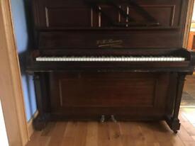 W H Barnes of London Upright Piano