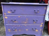 Melamine distressed chest drawers FREE DELIVERY PLYMOUTH AREA
