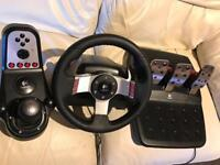 Logitech G27 Steering Wheel Pedals and Gear Shifter