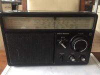 National Panasonic RF-1105 LBE Vintage Radio FM MW LW SW