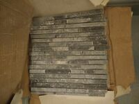 15 x broken rail stone tiles. 300x300mm