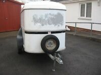 ifor william bv64 small used box trailer ready to use