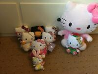 Large bundle of TY Hello Kitty Cuddly Toys