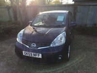 Nissan Note 2009, 1.4 petrol. Excellent condition throughout. air con, cruise, full service history