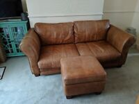 Dfs brown leather sofa for Sale | Sofas, Couches & Armchairs