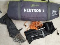 Hi Gear Neutron 2 Tent & Accessories - 2 Man - Festival - Camping - Great Condition