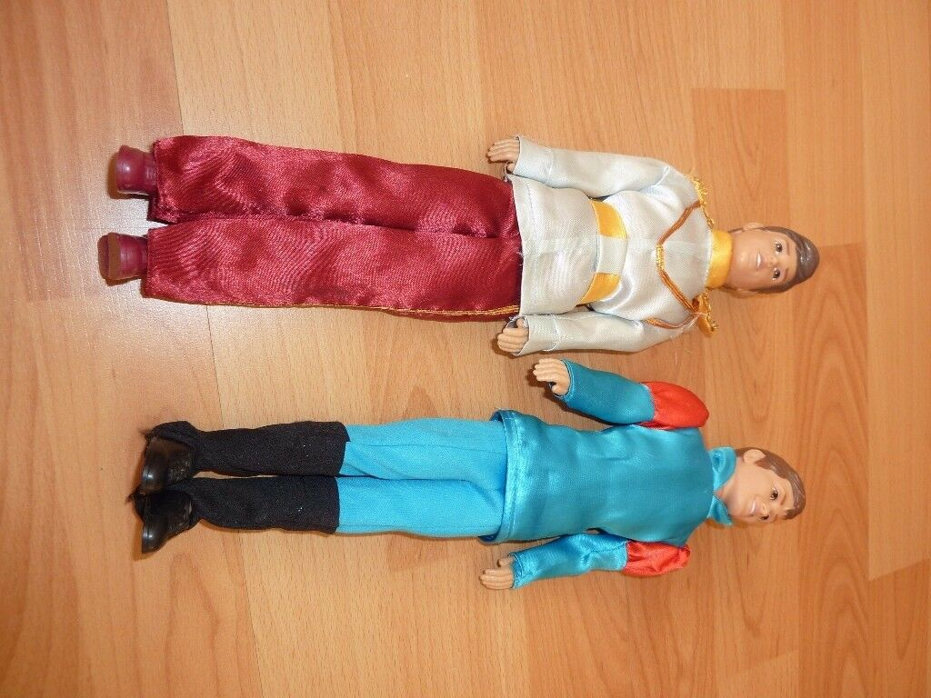 Disney Store - Cinderella Prince Charming and Sleeping Beauty Prince Phillip dolls