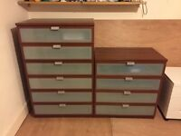 Pair of Chest of Drawers - 6 Drawer and 4 Drawer