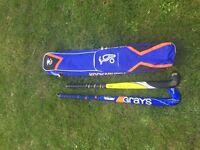 Hockey Sticks and Bag