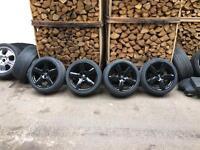 "18"" rs6 style alloy wheels & tyres refurbed 5x100 vw golf bora beetle audi a1"