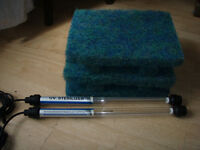 pond infilter uv, 15watt x2, japanese matting,