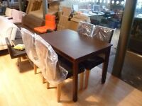 mahogany table with 4 chairs (free local delivery)