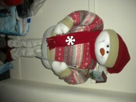 Snowman-standing....50 inches high. In Felt.