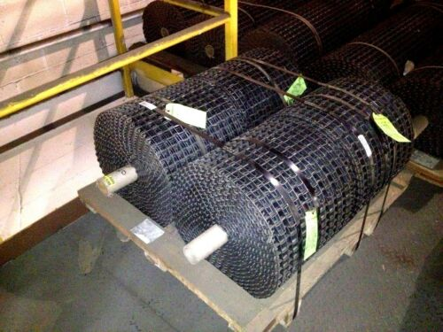 "NEW UNUSED Carbon Steel Clinched Selvage Conveyor Belting 16"" wide x 40 ft. long"