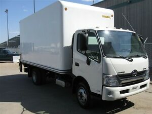 2013 Hino 195 Cab/over with a 16 ft. dry van body and lif...