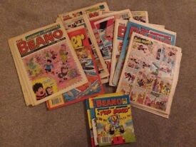 Lot of approx. 55 vintage Beano and Dandy magazines from late 1980s -early 1990s