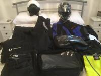 Motorcycle clothing and helmets