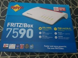 FRITZ!Box 7590 UK Version - High end WLAN, DECT VDSL Modem 4x4 WiFi AC, MU-MIMO