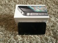 Boxed iphone 4, 8gb, black, on EE, Orange, T mobile and Virgin, full working order.
