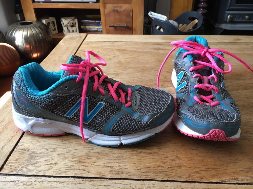 New Balance running trainers UK 7.5 (grey, turquoise and bright pink)