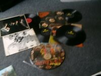 Beatles and rolling stones records,vinyl records