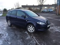 57 PLATE SEAT ALTEA 1.9 DIESEL - FULL SERVICE HSITORY- COMES WITH FULL YEAR MOT + 3 MONTHS WARRANTY