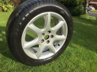 "jaguar 17"" alloy wheel s-type x-type xf xj"