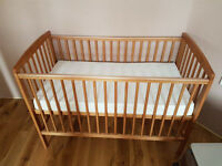 Cot bed & mattress for sale