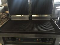 Panini contact grill roller grill majestic