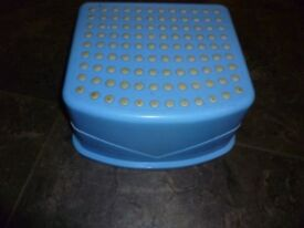 Blue step stool-ideal for toilet training