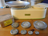Vintage Harper Weighing scales with Weights