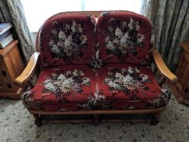 2 Seater sofa with 2 matching armchairs