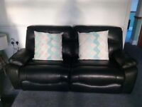 3 piece top of the range black leather suite