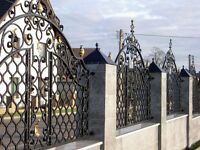 Wrought iron and stainless steel gates and fences, railing