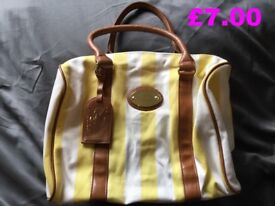 YELLOW & WHITE HANDBAG