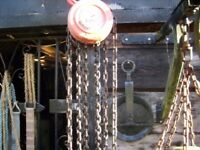 1 ton chain block and tackle
