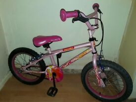 "girls apollo roxie 16"" wheel bike"