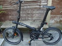 B'TWIN TILT 720 FOLDING BIKE - BLACK - BRAND NEW RRP 460£