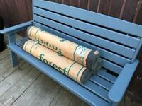 SOLD!!!!Roofing felt, green mineral 10m rolls
