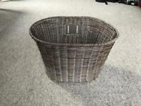 Plastic wicker bike basket