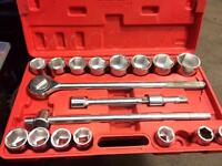 Various socket sets and air tools