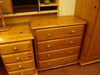 pine chest of 4 draws