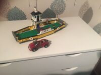 Lego City ferry boat with car